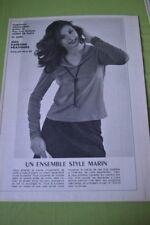 """"""" MODES de PARIS """" PATRON N°1620//ENSEMBLE STYLE MARIN T 40/44"""