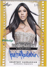 2011 POP CENTURY PREVIEW AUTO: KOURTNEY KARDASHIAN #1/5 AUTOGRAPH SISTER OF KIM