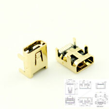 100pcs Gold Plated Mini USB 8 Pin Female Jack PCB SMT Socket Connector For DIY