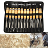 Professional 12PCS Wood Carving Hand Chisel Tool Set Woodworking Gouges DIY