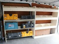 Ford Transit Custom SWB Van Racking Toolbox Storage Shelving XL double units