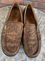 Johnston & Murphy Loafers Size 10 Soft Brown Leather Driving Shoes Slip On Brazi