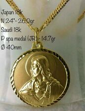 GoldNMore: 18K Necklace and Pendant Gold 24 inches 40.7G