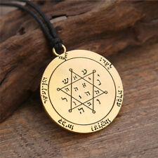 Talisman Jupiter Key of Solomon Pentacle Seal Necklace Rose Gold Hermetic