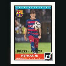 2015 Panini Donruss Neymar Jr /99 Gold Press Proof #69 FC Barcelona Brazil PSG