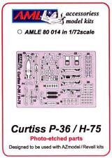 AML Models 1/72 CURTISS P-36 or H-75 HAWK Photo Etch Detail Set
