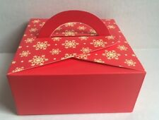 "12  Bakery Cookie Pastry cupcake Box 5-1/2"" x 5-1/2"" x2-1/2"" (2 patterns)"