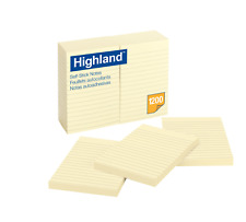Highland Notes, 4 x 6-Inches, Yellow, 100 Sheets per pad, 12-Pads/Pack,  6609