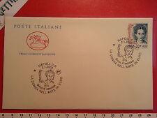Busta F.D.C. 2.1.2002 Napoli LA DONNA NELL'ARTE IN EURO