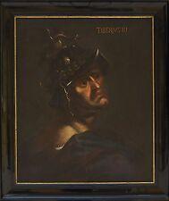 ANTIQUE Emperor Tiberius III (698-705 AD) Old Master Oil Painting 17century old