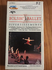 THE BOLSHOI BALLET LIVE DIVERTISSEMENTS RARE PAL VHS VIDEO