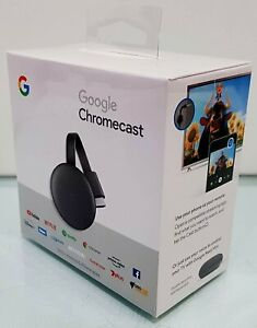 New Google Chromecast ( 3rd Generation ) HD Media Streamer GA00439-AU MFG 2020