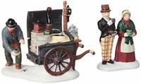 Dept 56 Dickens' Village The Coffee Stall Building & Accessory Figurine~Set of 2