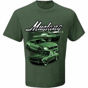 BULLITT Mustang T-Shirt - Dark Highland Green Ford Shirt with FREE USA SHIPPING!