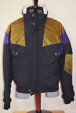 White Stag Ski Winter Jacket Coat Snowboard Mens Medium Black Gold Purple 90s