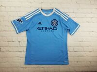 NYC FC Soccer Jersey MLS New York City  Football Club Blue White BOYS Size Large