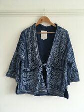 White Stuff Blue patterened Kimono jacket