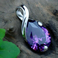 Crystal Heal Point Natural Gemstone Chakra Stone Amethyst Pendant Necklace Gift