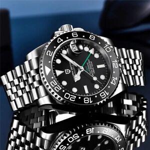 Fashion Men's PAGANI DESIGN GMT 40MM Top Brand Sapphire Glass Automatic Watch
