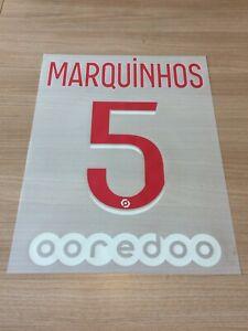 Flocage officiel MARQUINHOS N°5 PSG 20/21 pour maillot domicile home vendeur pro