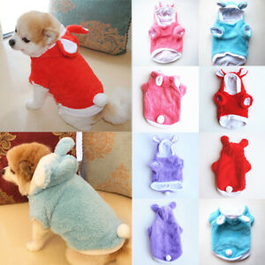 Cat Rabbit Ears Hat Clothes Costume Pet Small Dog Kitten Christmas Party Cosplay