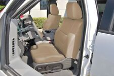 FORD F-150 04-08 S.LEATHER FRONT CUSTOM SEAT COVER NO BUILT IN SEATBELT BEIGE