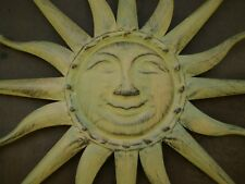 große  Sonne Wanddeko Deko Metall Antik-grün durchmesser 59cm Wanddekoration