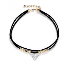 Fashion Triangle Turquoise Pendant Necklace Women Multi-layers Velvet Choker