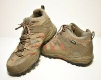 The North Face Mens Hiking Shoes Beige Red Lace Up Gore Tex Waterproof 10.5