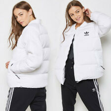 adidas Originals Womens SST Superstar Down Padded Coat White Puffa Bomber Jacket