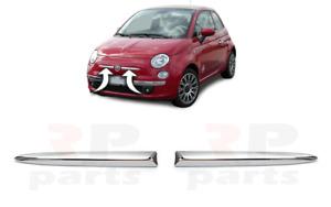 Pour Fiat 500 (312) 2007-2015 Neuf Pare Choc Avant Supérieur Moulure Chrome Bord