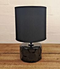 Black Shade Honeycomb Desk Bedside Cabinet Bedroom Living Room Side Table Lamp