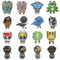 10Style Golf 4 Leaf Clover Golf Ball Marker With Magnetic Hat Clip Clamp Cl D0B0