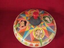 Chein Vintage Tin Spinning Top Charlie Brown & Gang 1969 Fair Cond. (217D)