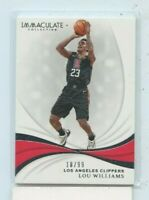 LOU WILLIAMS 2018-19 Panini Immaculate Collection Base Card #59 Clippers #D /99