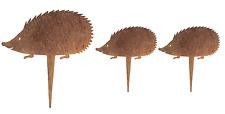 Rost-Deko Igelfamilie 3-teiliges Set Tier Gartenstecker Igel
