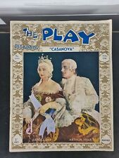 More details for vintage programme the play pictorial casonova