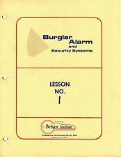 Belsaw Home Study Course For Burglar Alarm & Security Systems