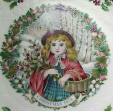 1978 Vtg Royal Doulton Christmas Plate Second in a Series Girl with Basket Holly