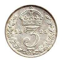 KM# 813a - Threepence - 3d - George V - Great Britain 1925 (EF)