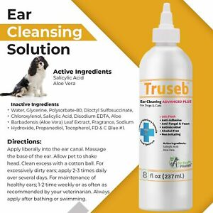 Truseb   #1 Ear Cleaner Advanced Plus Solution Formula for Cats and Dogs