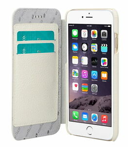 """Melkco Premium Leather Case for Apple iPhone 8/7 (4.7"""") - Face Book WHITE H124"""