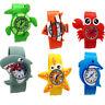 Kinder Jungen Slap Snap Silikon Uhr Tier Zoo Cartoon Armbanduhr Kind Geschenk