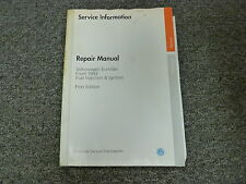 1993 Volkswagen VW Eurovan Fuel Injection & Ignition Shop Service Repair Manual