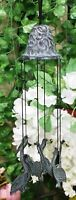 Verdigris Green Distressed Brass Nautical Great White Pelicans Wind Chime Mobile
