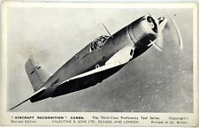 Card Aviazione - The Vought-Sikorsky Corsair I American Fleet Fighter