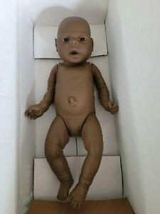 """Vintage Anatomically Correct African American Baby Girl Doll 18"""""""