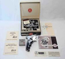 Bolex B8L 8mm Movie Camera w/Pistol Grip, Box & Paperwork