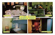 Vintage Postcard ALASKA MARINE HIGHWAY FERRY  multi-image photo