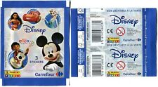 BOOSTER 3 Cartes STICKERS PANINI 2017 CARREFOUR DISNEY DESSINS ANIMES